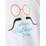 Color Block Mustache Print T-Shirt for sale