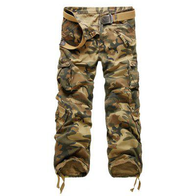 Buy EARTHY Zipper Fly Straight Leg Multi-Pockets Embellished Camouflage Pants for $14.69 in GearBest store