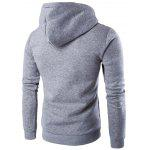 Tribal Print Hooded Long Sleeve Fleece Hoodie - LIGHT GRAY
