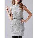 Sleeveless Sheath Knitted Dress and Long Sweater Coat deal