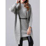 cheap Sleeveless Sheath Knitted Dress and Long Sweater Coat