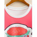Hamburger Pattern Cropped Long Sleeve Sweatshirt deal