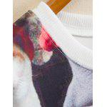 Kitty Family Cropped Long Sleeve Sweatshirt - COLORFUL