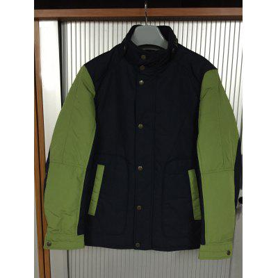 Stand Collar Color Splicing Padded Jacket ODM Designer