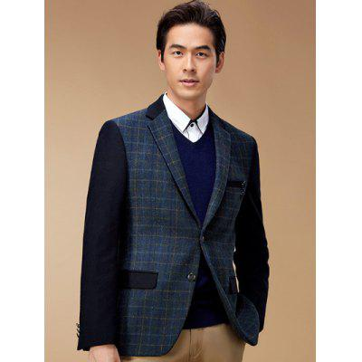 Plaid Breast Pocket Lapel Long Sleeve Blazer ODM Designer