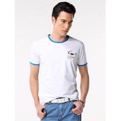 White Ringer T Shirt
