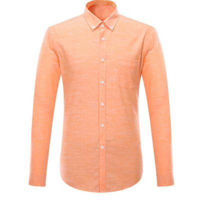 Pocket Design Long Sleeve Formal Shirts