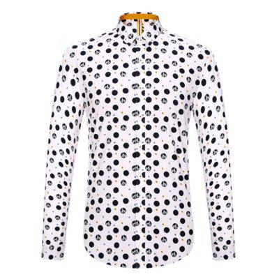 Long Sleeve Polka Dot Pattern Shirt ODM Designer