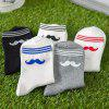 cheap One Set Moustache Pattern Socks