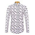 Buy WHITE Long Sleeve Polka Dot Pattern Shirt ODM Designer for $15.65 in GearBest store