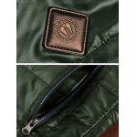 Zippeded Patched Leather Paneled Wadded Coat ODM Designer - GREEN