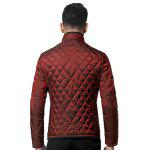 Geometric Quilted Wadded Jacket ODM Designer - DEEP RED