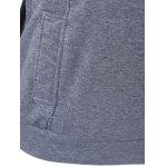 Pullover Dark Grey Hoodie with Zip Design - GRAY