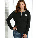 Plus Size Zipper Embellished Pullover deal
