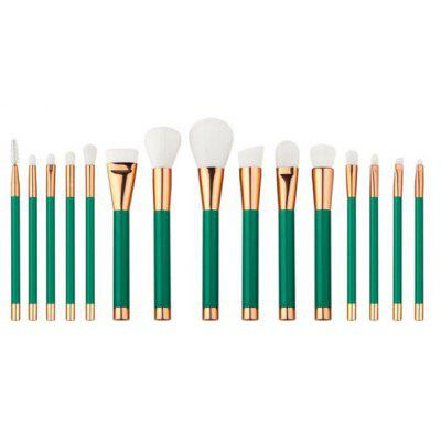 15 Pcs Nylon Face Eye Lip Makeup Brushes Set