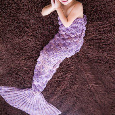 Comfortable Knitted Warmth Mermaid Blanket For Kids