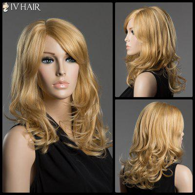 Sidehead Side Parting Wave Siv cheveux long capless perruque de cheveux humains