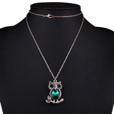 Buy Owl Rhinestone Sweater Chain, BLACKISH GREEN, Watches & Jewelry, Fashion Jewelry, Sweater Chains for $4.25 in GearBest store