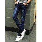 cheap Buttons Design Zipper Fly Slim Fit Jeans