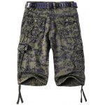 Camouflage Straight Leg Multi-Pocket Zipper Fly Cargo Shorts For Men deal