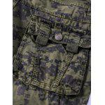 Camouflage Straight Leg Multi-Pocket Zipper Fly Cargo Shorts For Men photo