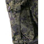 Camouflage Straight Leg Multi-Pocket Zipper Fly Cargo Shorts For Men for sale