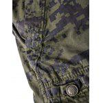 cheap Camouflage Straight Leg Multi-Pocket Zipper Fly Cargo Shorts For Men