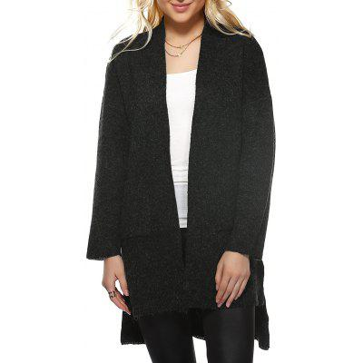 High Low Hem Knitted Coat
