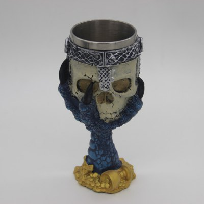 3D Drinkware Hawk Claw Support Skull Shape Goblet