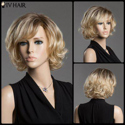 Buy COLORMIX Human Hair Shaggy Curly Short Side Bang Siv Hair Capless Wig for $71.36 in GearBest store