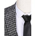 Plus Size Lapel Single Breasted Small Grid Long Sleeve Three-Piece Suit ( Blazer + Waistcoat + Pants ) for sale
