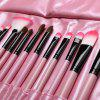 Stylish 24 Pcs Soft Pony Hair Makeup Brushes Set with PU Leather Brush Bag photo