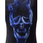 Long Sleeve Skull T Shirts - BLACK