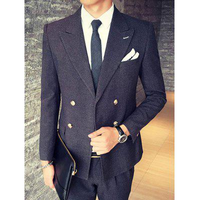 Back Furcal Lapel Collar Flap Pocket Blazer