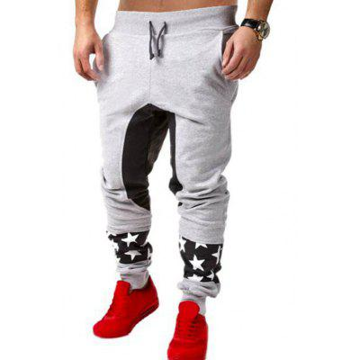 Star Patchwork Drop Crotch Joggers