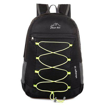 Buy BLACK Zippers Nylon Cross Straps Backpack for $21.27 in GearBest store