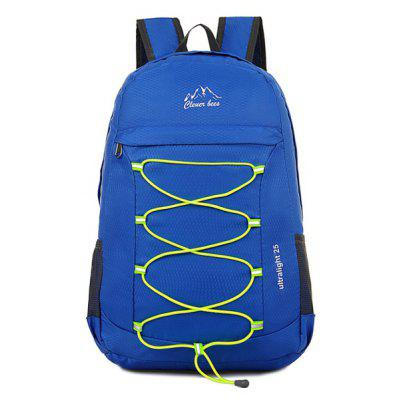 Buy BLUE Zippers Nylon Cross Straps Backpack for $21.27 in GearBest store