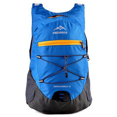 Buy BLUE Zippers Color Splicing Cross Straps Backpack for $17.75 in GearBest store