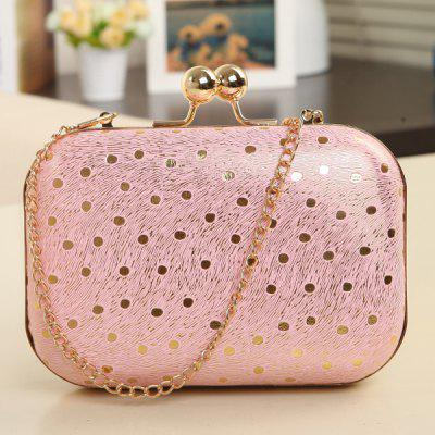 Buy PINK Elegant Kiss Lock Closure and Chain Strap Design Evening Bag For Women for $19.45 in GearBest store