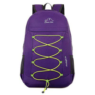 Buy PURPLE Zippers Nylon Cross Straps Backpack for $21.27 in GearBest store