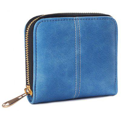 PU Leather Zip Around Coin Purse