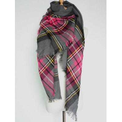 Modello plaid casuale frange Big Foulard