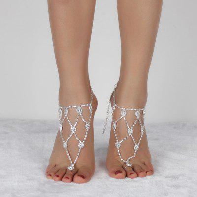 Tiered Rhinestone Anklets