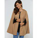 cheap Loose-Fitting Plain Cape Coat