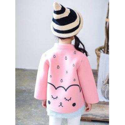 Button Up Cartoon Printed Coat