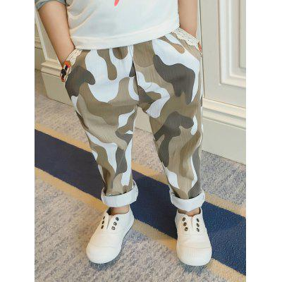 Camouflage Pattern Straight Pants