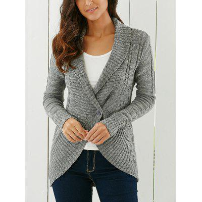Shawl Collar CardiganSweaters &amp; Cardigans<br>Shawl Collar Cardigan<br><br>Collar: Shawl Collar<br>Material: Acrylic<br>Package Contents: 1 x Cardigan<br>Pattern Type: Solid<br>Season: Fall, Winter<br>Sleeve Length: Full<br>Style: Fashion<br>Type: Cardigans<br>Weight: 0.430kg