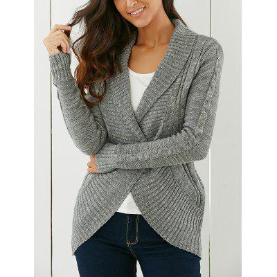 Buy GRAY Shawl Collar Cardigan for $22.44 in GearBest store