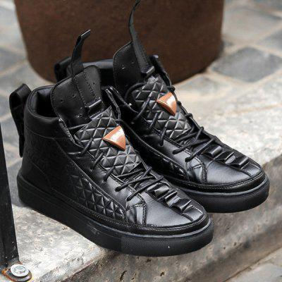 Embossing High Top Casual Shoes