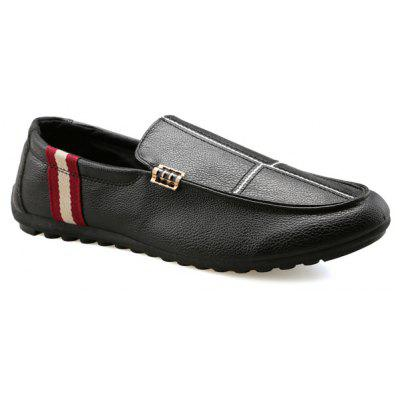 PU Leather Slip-On costura Loafers